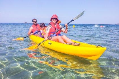Touring the coast with Kayak Ibiza