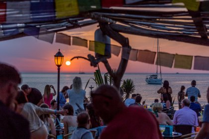 Dine whilst the sun sets at Kumharas