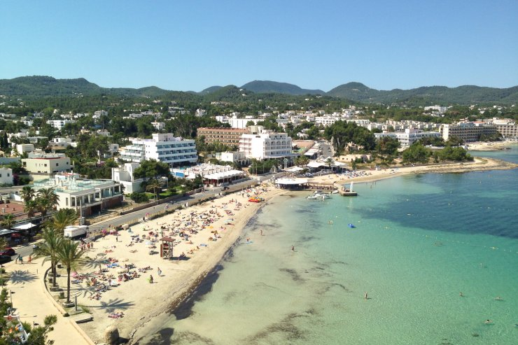 Beaches Along The Bay Of San Antonio Ibiza Spotlight